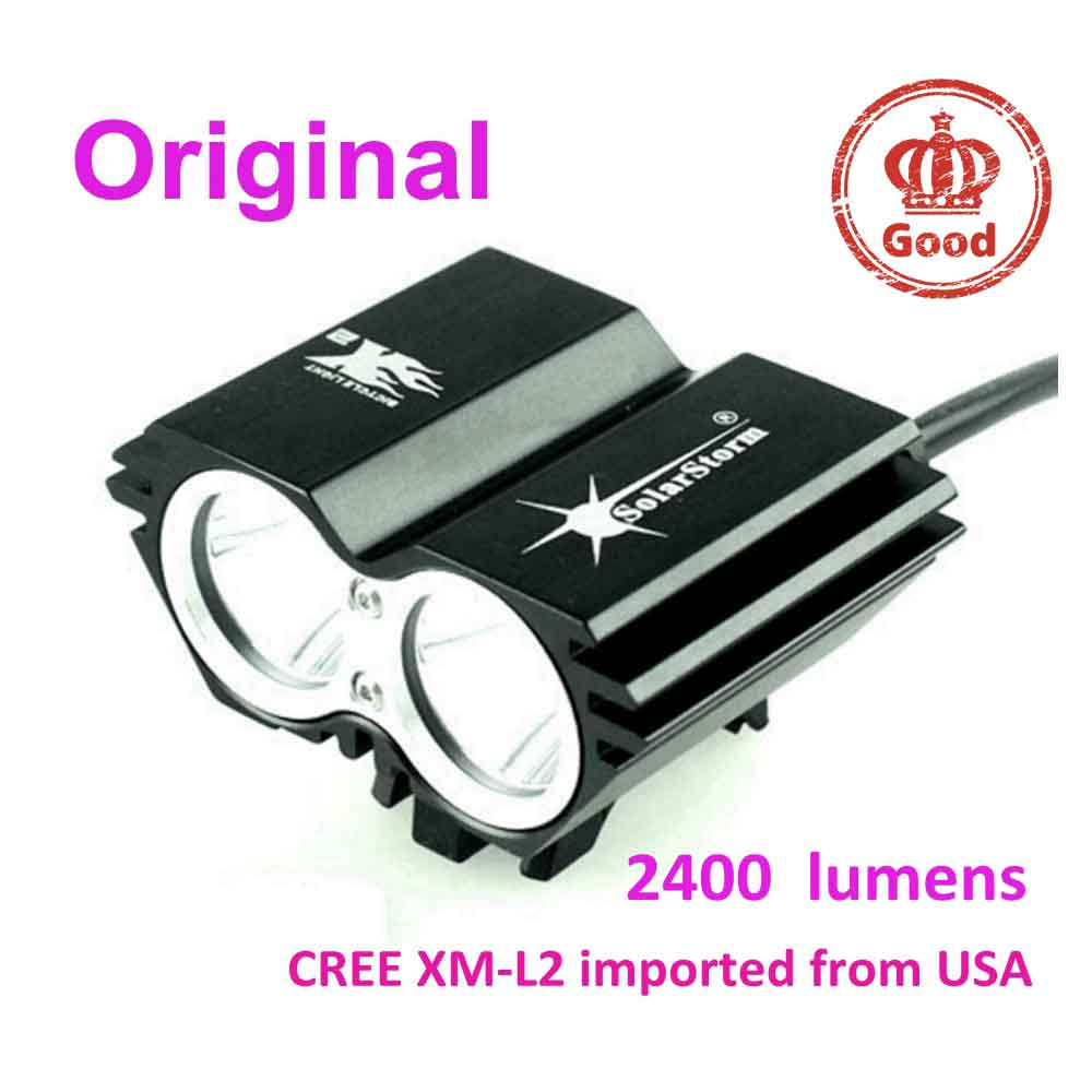 2400 lumen led CREE XM-L2 solarstorm x2 bicycle bike front light