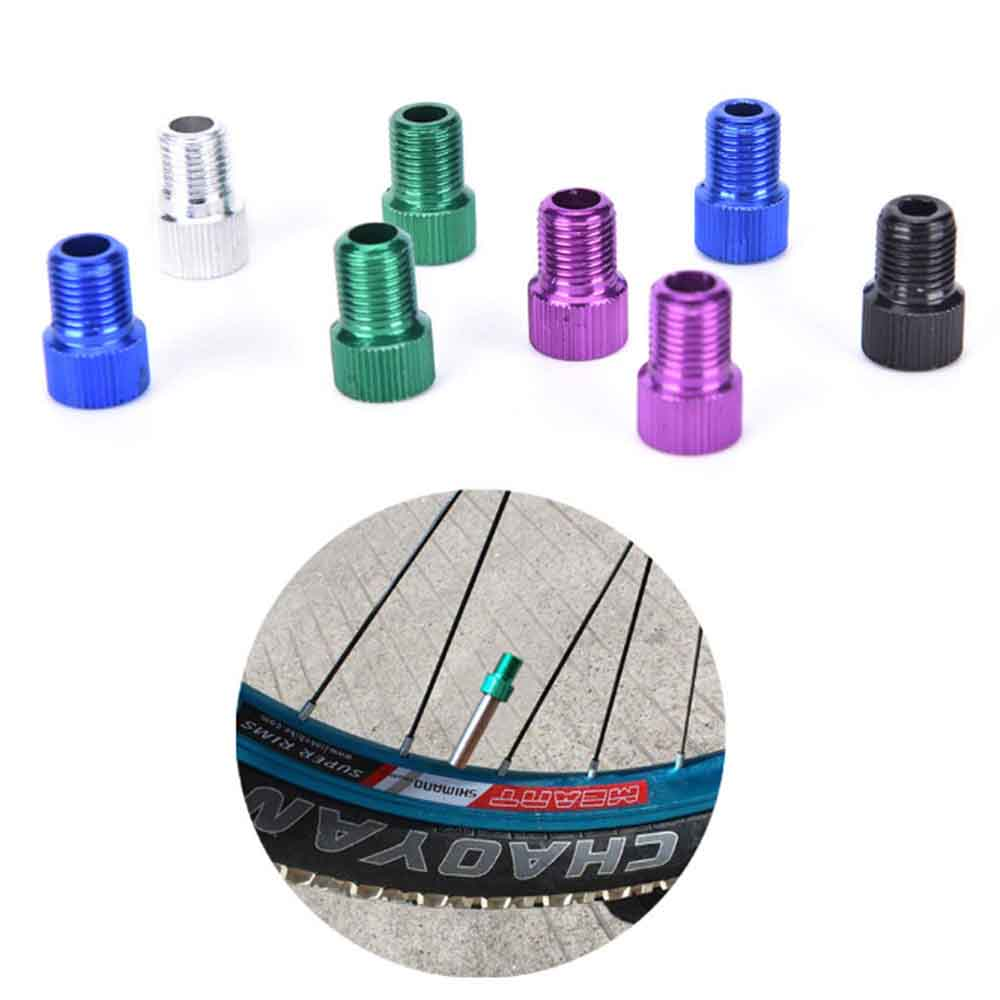 Aluminum alloy bicycle bike valve adapter converter